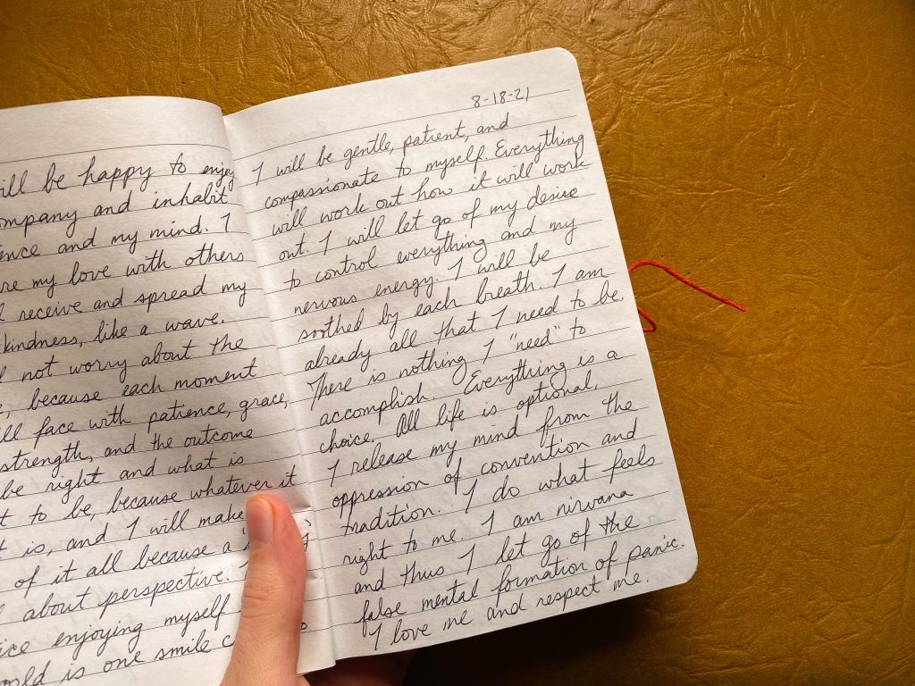 My manifestation journal